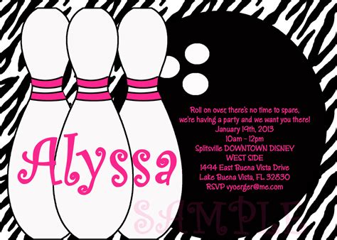 bowling birthday invitation templates birthday invitations bowling invitations templates