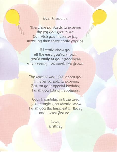 Grandmother Quotes Birthday Grandma Quotes And Poems Quotesgram