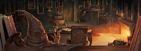 what house was dumbledore in the sorting hat in dumbledore s office pottermore