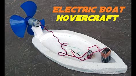 how to make a boat model how to make an electric boat homemade hovercraft youtube
