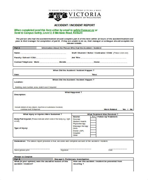 doc 585650 incident report word template incident sle accident incident report 6 exles in pdf word