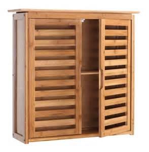 armoire 233 tag 232 re meuble pour salle de bain en bambou