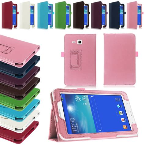 Flip Cover Samsung Tab 3 Lite flip leather stand cover for samsung galaxy tab 3