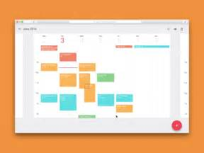 material design calendar js calendar by kai daniels dribbble
