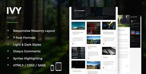 ivy themes themes blogger 20 nice ghost themes for blog design freebies