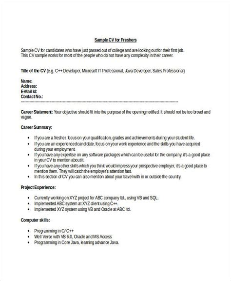 Resume Format Doc For Fresher Engineering Student Engineering Resume Template 32 Free Word Documents