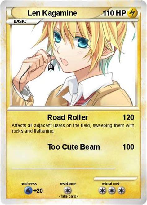 len roller pok 233 mon len kagamine 60 60 road roller my card
