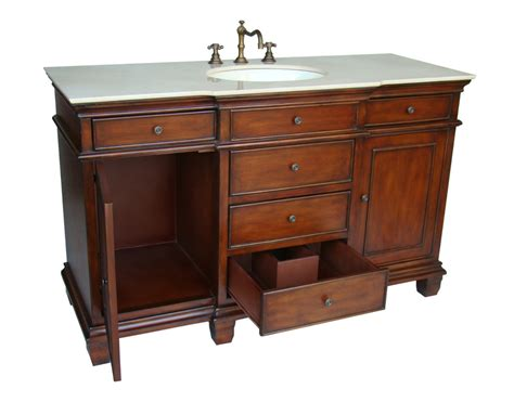 56 Inch Bathroom Vanity 56 Inch Dunsmore Vanity Single Sink Vanity Chestnut Finish Vanity