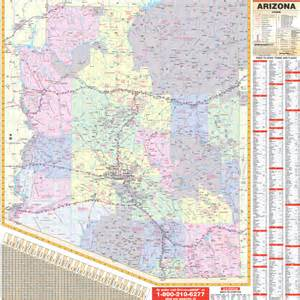 state roller wall maps arizona state wall map