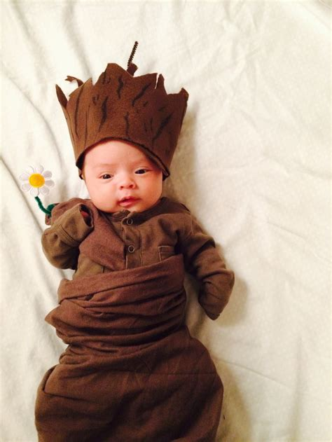 diy newborn baby groot costume guardians   galaxy
