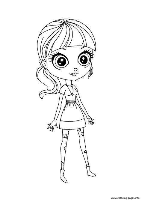 lps blythe coloring pages littlest pet shop blythe smile coloring pages printable