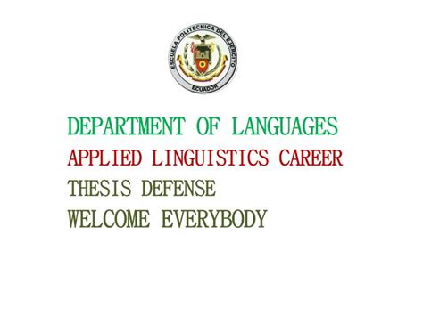 linguistics thesis ppt department of languages applied linguistics career