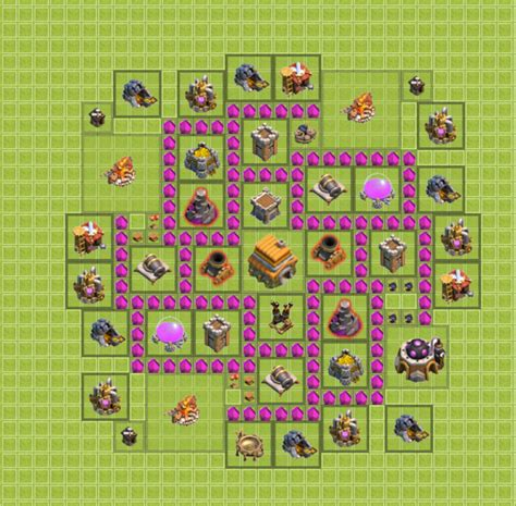 layout vila cv 6 cv 6 brazil tm clash of clans