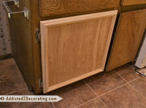 How To Build A Kitchen Cabinet Door Bathroom Makeover Day 3 How To Make Cabinet Doors Without Using Special Tools
