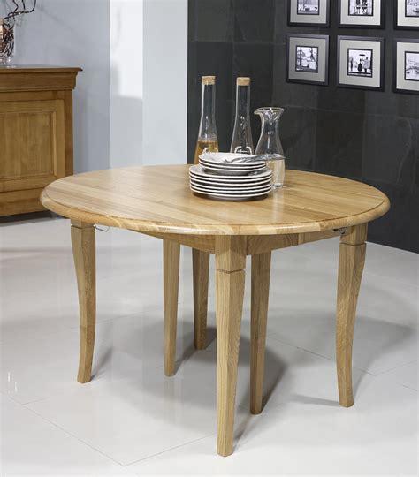 table ronde chene table ronde 224 volets en ch 234 ne massif de style louis