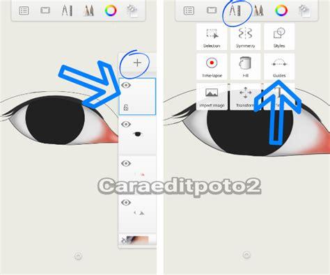 membuat pola alis tutorial sketchbook android cara membuat mata dan alis