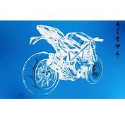Wall Sketches Motorbikes Graphic Blueprint Wallpaper