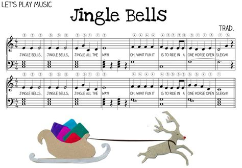 easy jingle bells sheet   piano desktop