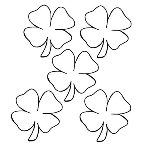 picture of a four leaf clover az coloring pages