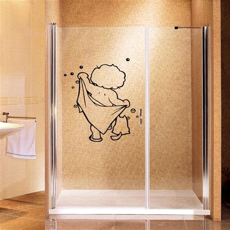 Wall Sticker Baby Shower lovely baby shower wall stickers bathroom glass door stickers children shower sticker