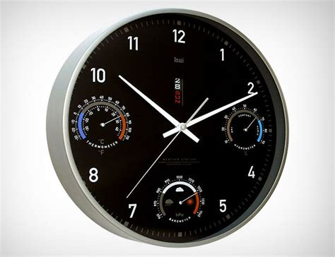 design clock bai design weather monitor wall clock gear patrol