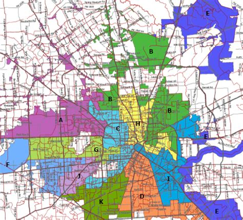 houston jurisdiction map houston council district map indiana map