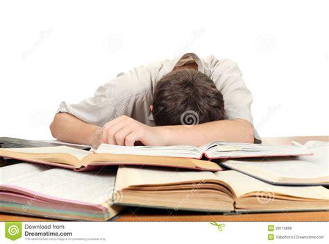 Student Sleeping On Desk by Student Sleeping Stock Photo Image Of Homework