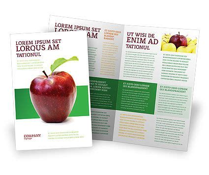 apple brochure templates apple brochure template flat design