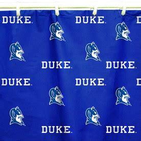 shop college covers duke cotton duke blue devils patterned shower curtain at lowes