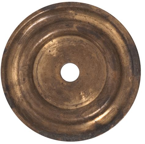 Knobs And Plates 1 1 4 inch solid brass cabinet knob back plate distressed antique brass finish