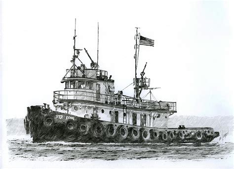 tugboat iver foss by james williamson - Tugboat Drawing