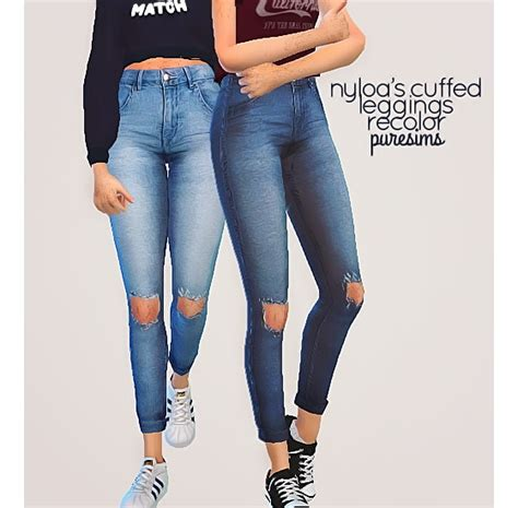 sims 4 jeans pure sims cuffed jeans sims 4 downloads