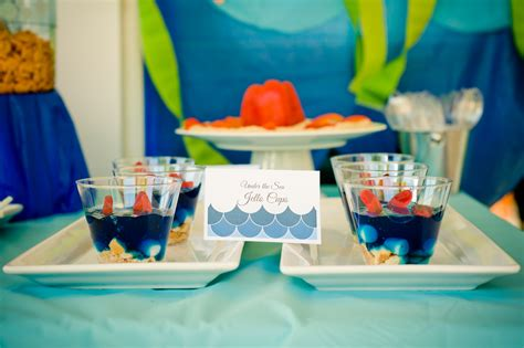 Crafts For Baby Shower Guests - under the sea water party smash cake