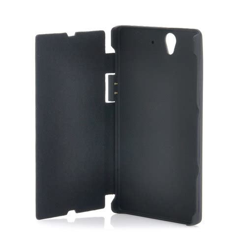 Flip Cover Sony Ericson Experia Z L36h Flipcase Karakter Exp T1310 flip cover with 2800mah battery for sony xperia z l36h l36i flip out stand black taav