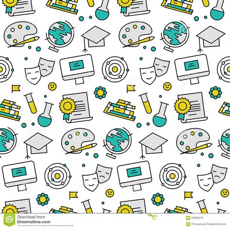Texture Pattern Learning | education elements seamless icons pattern stock vector