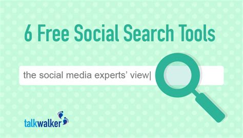 Free Social Media Search 6 Free Social Search Tools The Social Media Experts View