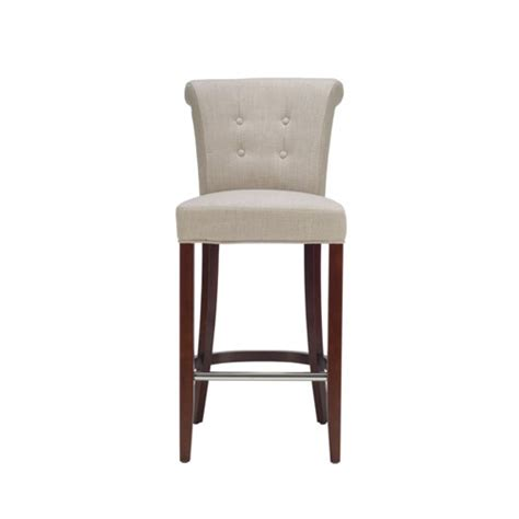 Counter Depth Bar Stools | grey aldo mahogany linen bar stool