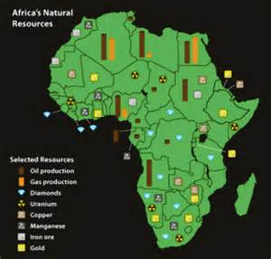 africa map of resources africa ted cbell s point of view
