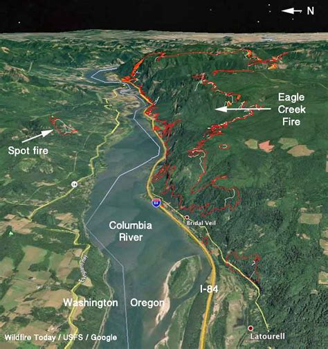 map of oregon eagle creek eagle creek in columbia river gorge slows but still