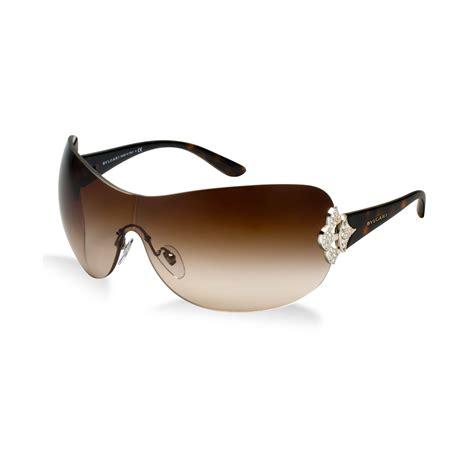 bvlgari sunglasses in brown lyst
