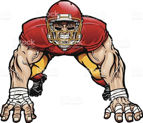 football player clip football lineman clipart clipart best