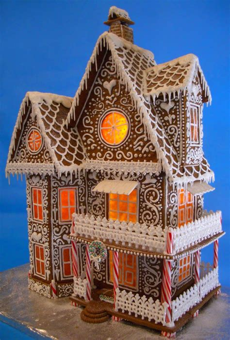 The Gingerbread House The Gingerbread Winter Wonderland Gingerbread House 2013 Cakecentral Com