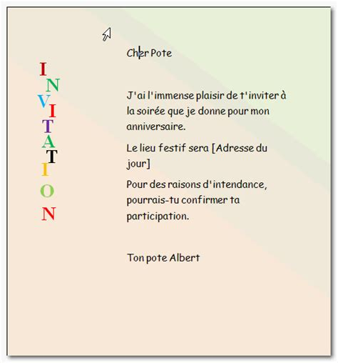 Exemple De Lettre D Invitation De Noel Modele Carte Invitation Anniversaire Word