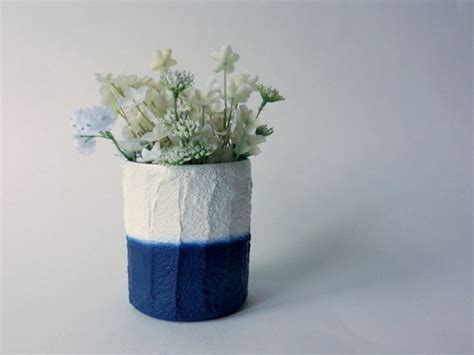Navy And White Vase Navy Blue And White Vase White And By Carriageoakcottage