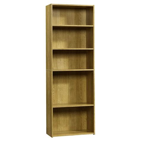 Sauder 5 Shelf Bookcase Sauder Beginnings Collection 71 In 5 Shelf Bookcase In Highland Oak 413324 The Home Depot