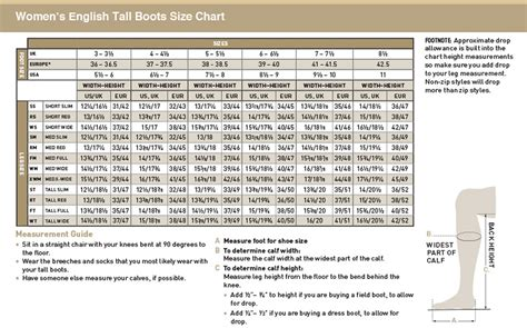 boot size chart ariat boot sizes boot hto