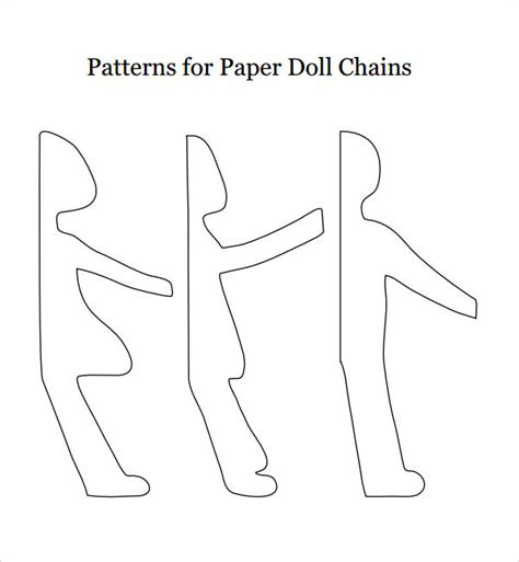 Paper Chain Dolls - paper doll template 8 free pdf doc