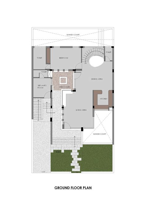 Large House Floor Plan Gallery Of Gairola House Anagram Architects 11