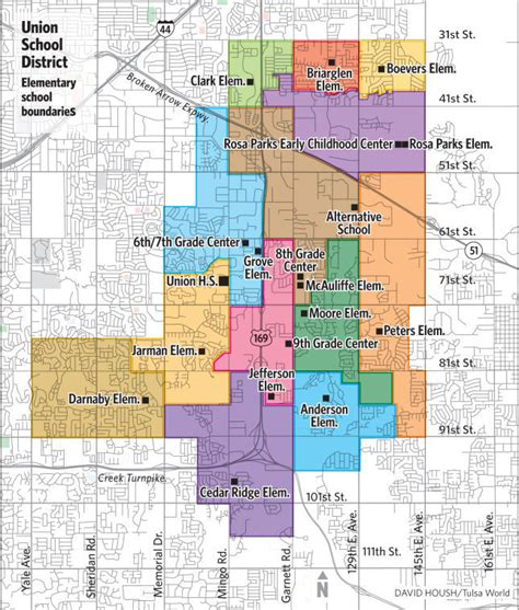 zip code map tulsa union school board approves redistricting plan to ease