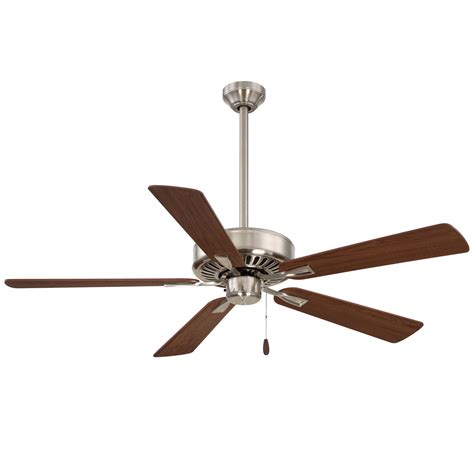 contractor ceiling fans contractor plus brushed nickel 52 inch ceiling fan minka